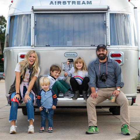 Pictured left to right: Ellie, Rivers, Huck, Emmylou and Drew Holcomb.
