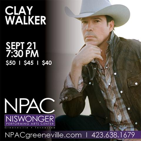 Clay Walker to perform Sept. 21 at Niswonger Performing Arts Center