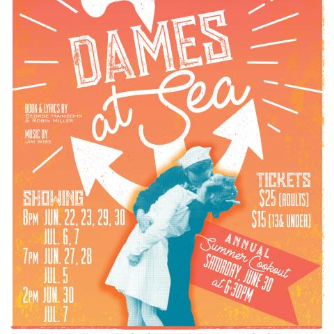 """Dames at Sea"" to Drop Anchor at the Roxy Regional Theatre"