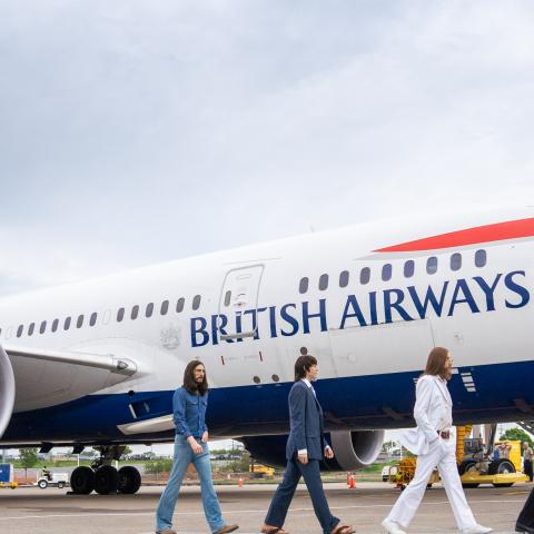 Madame Tussauds' Beatles Figures Welcome British Airways Flight to Nashville