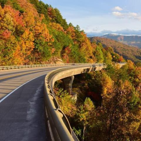 New Foothills Parkway in the Great Smoky Mountains National Park
