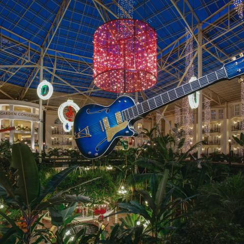 Christmas decorations at Gaylord Opryland in Nashville TN
