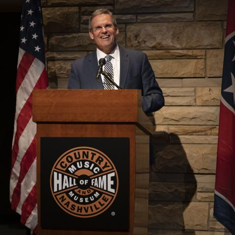 Gov. Bill Lee at the Country Music Hall of Fame and Museum's Ford Theater.
