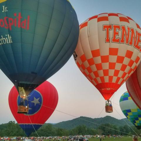 Great Smoky Mountains Hot Air Balloon Festival in Townsend, TN
