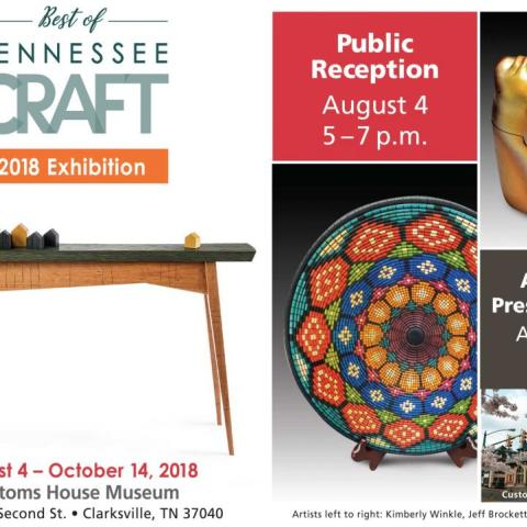 Best of Tennessee Craft Exhibition Public Reception Hosted at Clarksville's Customs House Museum and Cultural Center
